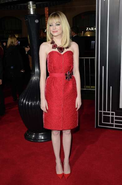 Actress Emma Stone arrives at Warner Bros. Pictures' 'Gangster Squad' premiere at Grauman's Chinese