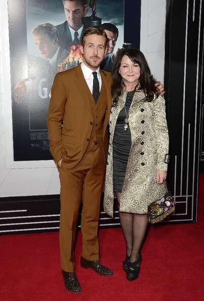Actor Ryan Gosling and Donna Gosling arrive at Warner Bros. Pictures' 'Gangster Squad' premiere at G