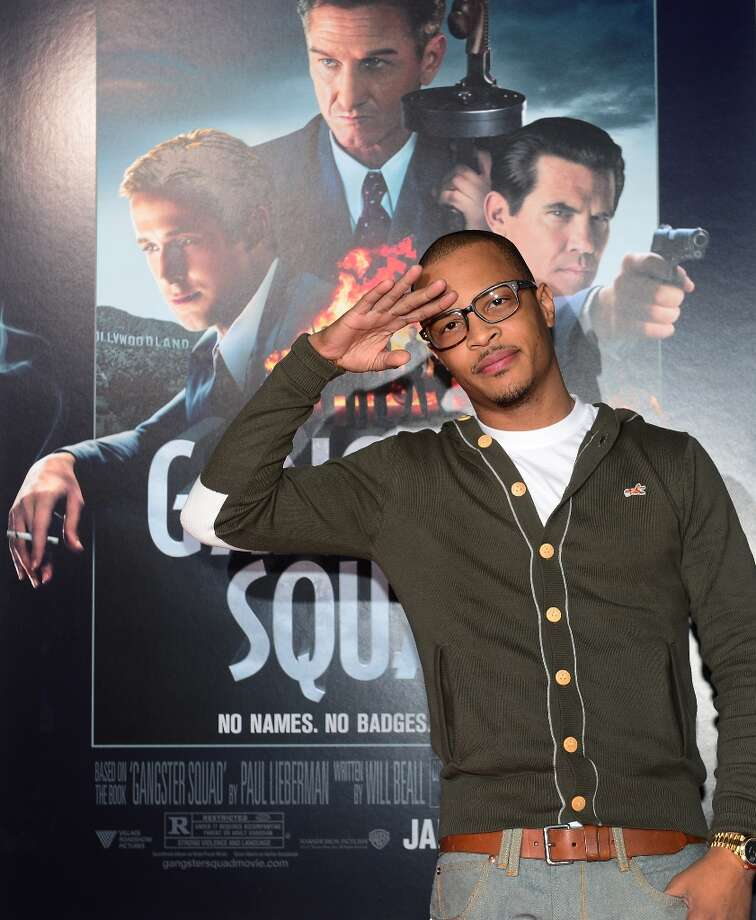 Hip hop artist T.I, Clifford Joseph Harris Jr., poses on arrival for the Los Angeles World Premiere of Gangster Squad at Grauman's Chinese Theater on January 7, 2013 in Hollywood,California. Photo: FREDERIC J. BROWN, AFP/Getty Images / 2013 AFP