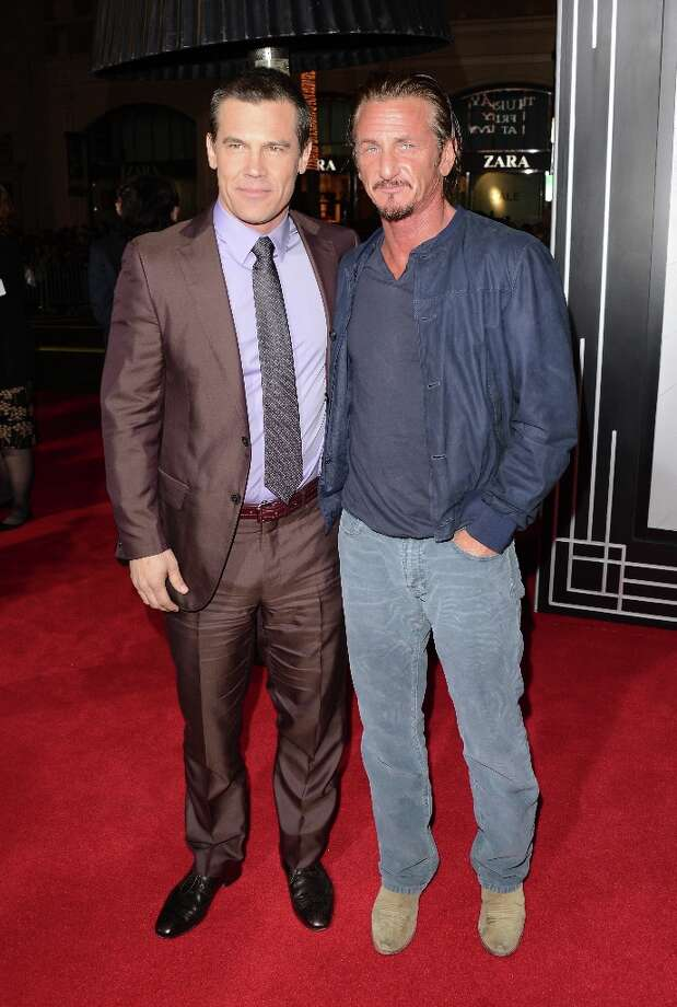 Actors Josh Brolin and Sean Penn arrive at Warner Bros. Pictures' 'Gangster Squad' premiere at Grauman's Chinese Theatre on January 7, 2013 in Hollywood, California. Photo: Jason Merritt, Getty Images / 2013 Getty Images