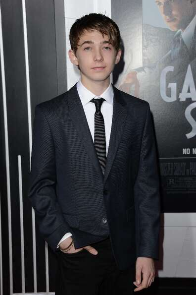 Actor Austin Abrams arrives at Warner Bros. Pictures' 'Gangster Squad' premiere at Grauman's Chinese