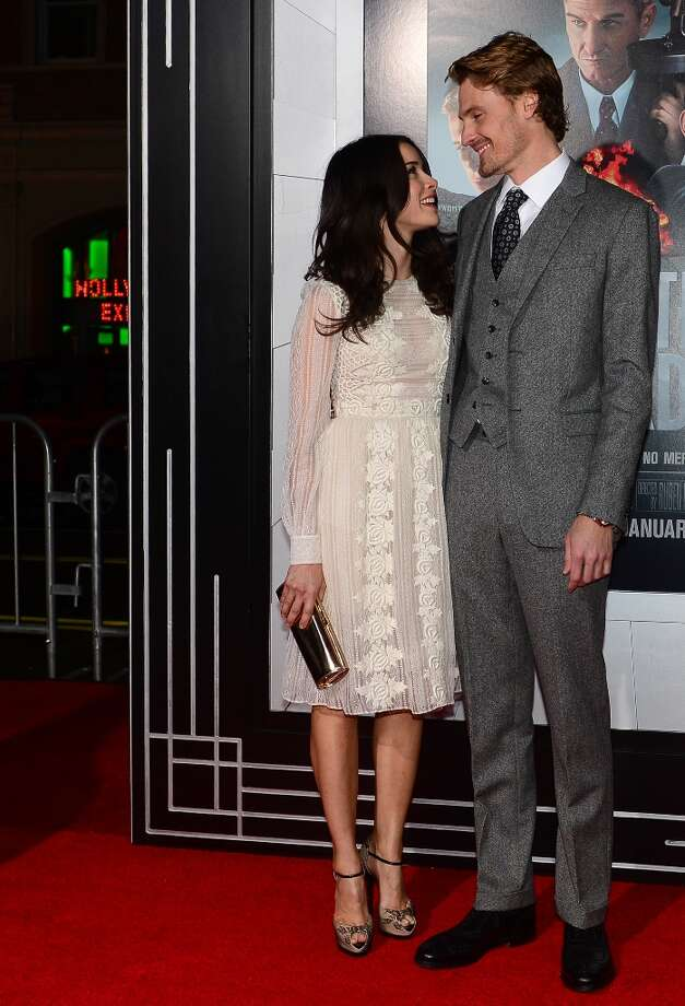 Actor Josh Pence and actress Abigail Spencer pose on arrival for the Los Angeles World Premiere of Gangster Squad at Grauman's Chinese Theater  on January 7, 2013 in Hollywood,California. Photo: FREDERIC J. BROWN, AFP/Getty Images / 2013 AFP