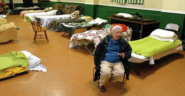 In this file photo Annie Orr, the coordinator of the Danbury overflow shelter, is shown at First Congregational Church in Danbury, Dec. 21, 2010. Photo: Chris Ware, ST / The News-Times