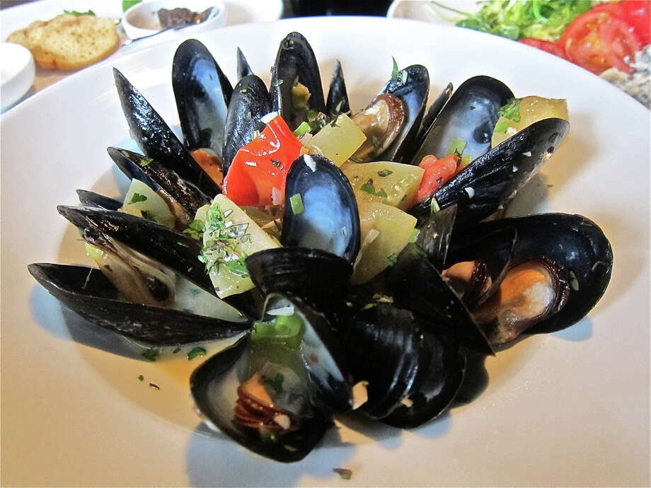 Mussels steamed with white wine, tomato, garlic herbs and fennel at Costa Brava Bistro. Photo: Alison Cook