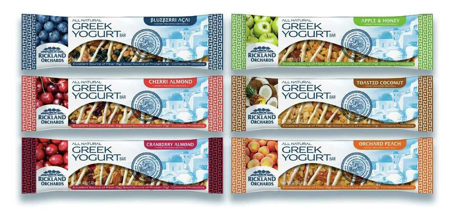 Rickland Orchards makes Greek yogurt bars with 5g of fiber and 7g of protein. Photo: Rickland Orchards