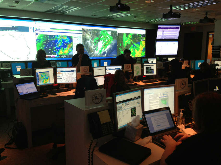 The Harris County Office of Homeland Security and Emergency Management had its emergency Operations Center on Level 3 alert at 3 p.m. Photo: Courtesy Of The Harris County Office Of Homeland Security And Emergency Management