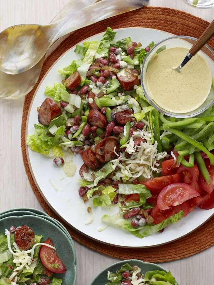 Good Housekeeping recipe for Cajun Cobb Salad. Photo: Con Poulos