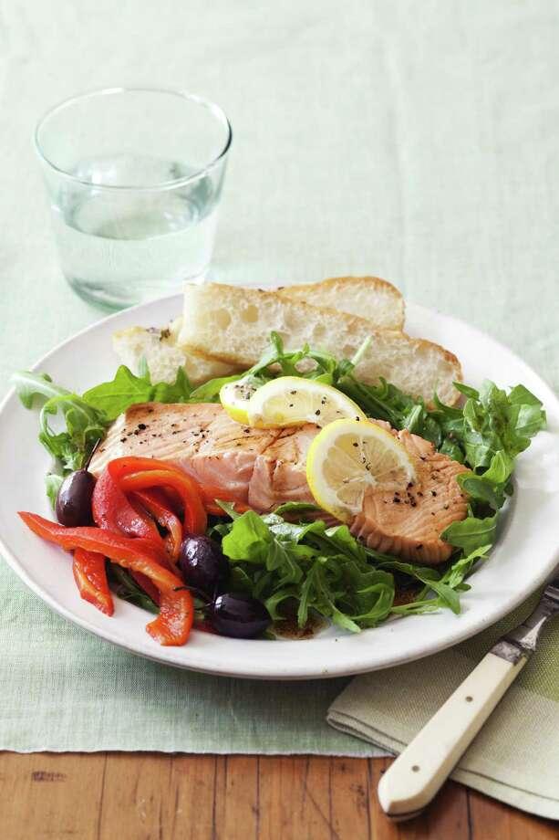 Good Housekeeping recipe for Tuscan Sun Salmon Salad. Photo: Kate Sears