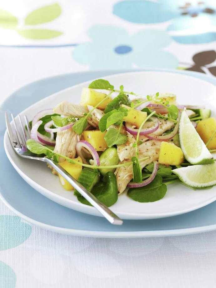 Redbook recipe for Asian Chicken and Mango Salad. Photo: Frances Janisch