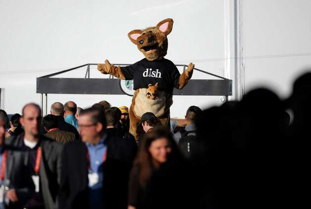 The Dish mascot Hopper entertains show attendees at the International Consumer Electronics Show in Las Vegas, Tuesday, Jan. 8, 2013. Photo: Jae C. Hong