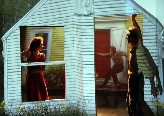 """Voyeur,"" a performance of dance and video created by choreographer/dancers Art Bridgman and Myrna Packer that takes the paintings of Edward Hopper as its point of departure, takes place on Saturday, Jan. 19, at the Silvermine Arts Center, New Canaan. Photo: Contributed"