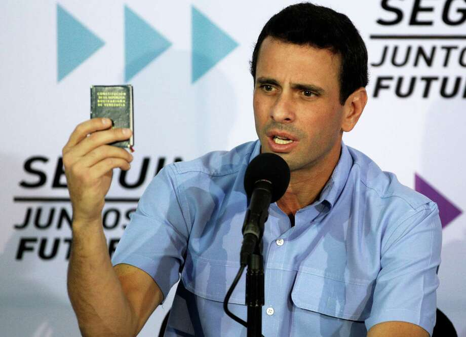 Venezuelan opposition leader Henrique Capriles is pressing for a ruling by the Supreme Court. Photo: Fernando Llano, STF / AP