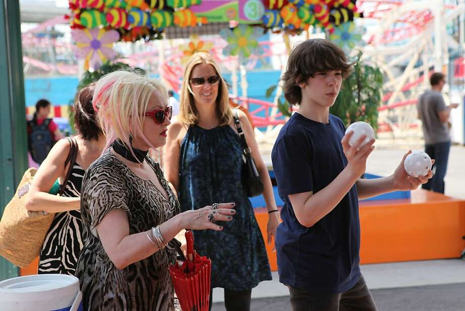 """Cyndi Lauper, with 14-year-old son Declyn on her reality show """"Cyndi Lauper: Still So Unusual,"""" understands he's growing up and gaining independence. Photo: WE Tv"""