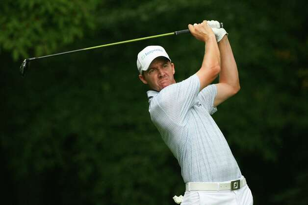 Jimmy Walker hits his tee shot on the second hole during the final round of the Wyndham Championship at Sedgefield Country Club on Aug. 19, 2012 in Greensboro, N.C. Photo: Hunter Martin, Getty Images / 2012 Getty Images