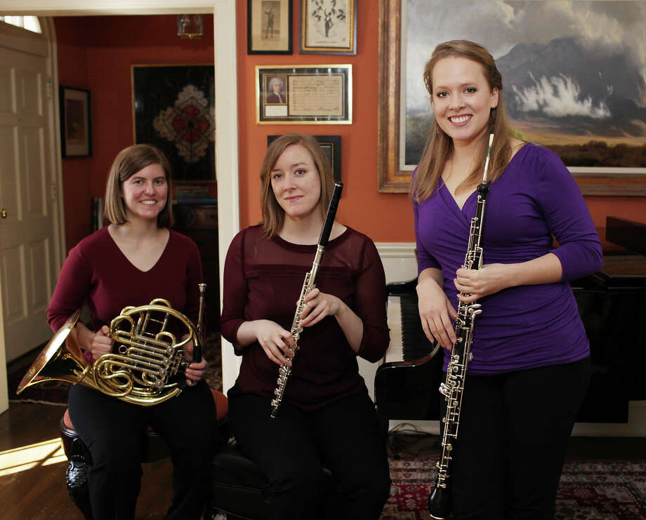 Molly Norcross (from left), Martha Long and Jennifer Berg are new additions to the San Antonio Symphony. Photo: Jerry Lara, San Antonio Express-News / © 2013 San Antonio Express-News