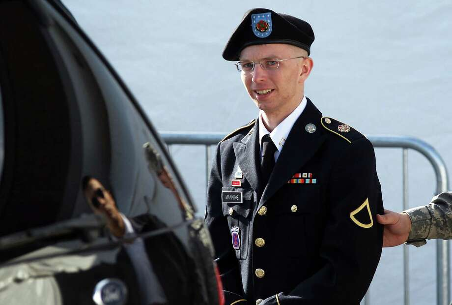 U.S. Army Private Bradley Manning is accused of passing thousands of diplomatic cables and intelligence reports to the whistleblowing website WikiLeaks.The documents included videos, diplomatic cables and logs pertaining to the United States involvement in the war in Iraq. Photo: Alex Wong, Getty Images / 2012 Getty Images