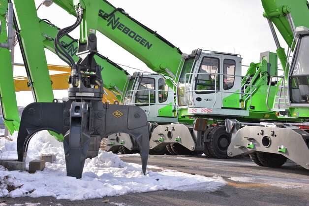 New equipment for the planned Ben Weitsman of Albany scrapyard facility at the Port of Albany Tuesday Jan. 8, 2013. (John Carl D'Annibale / Times Union) Photo: John Carl D'Annibale / 00020689A