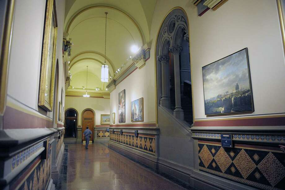 A view inside the new Hall of New York on the second floor of the Capitol on Tuesday, Jan. 8, 2013 in Albany, NY.  The hall will be an exhibit space where landscapes devoted to regions of New York will be displayed.  (Paul Buckowski / Times Union) Photo: Paul Buckowski  / 00020700A