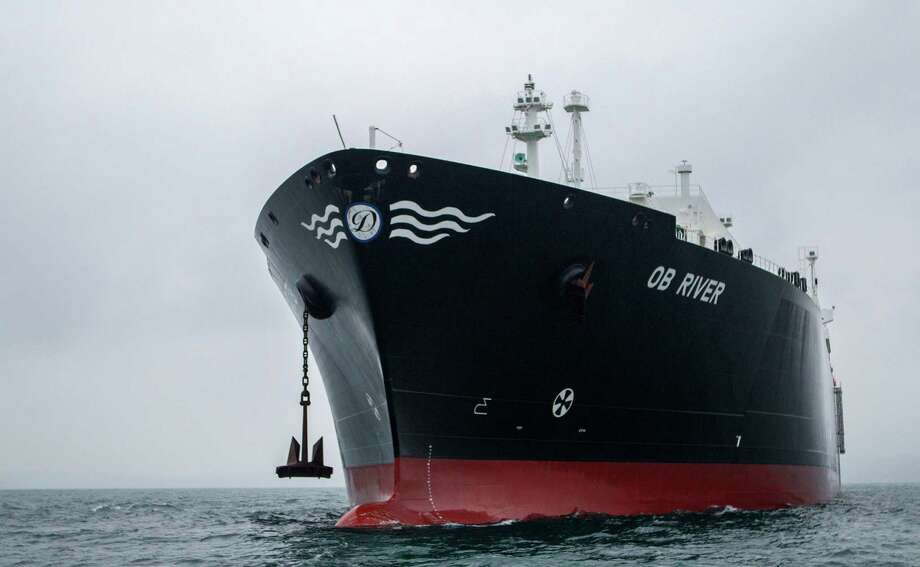 The Ob River tanker is able to carry LNG. A report says U.S. natural gas exports wouldn't be too costly. Photo: -, Handout / AFP