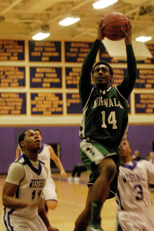 Norwalk's Jabari Dear shoots as Westhill High School hosts Norwalk in a boys basketball game in Stamford, Conn., Jan. 8. 2013. Photo: Keelin Daly / Stamford Advocate Riverbend Stamford, CT