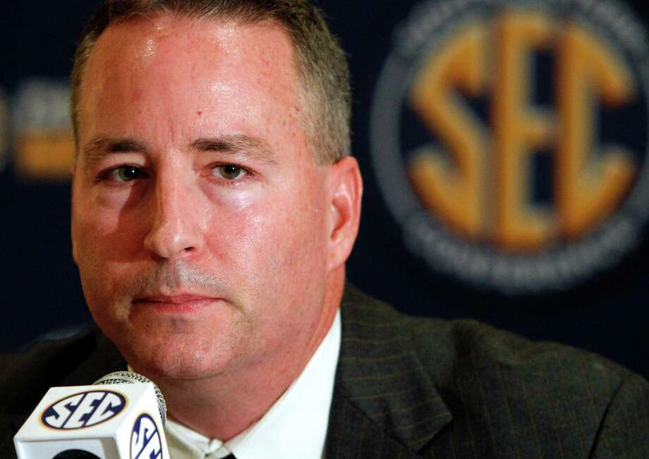 Texas A&M men's coach Billy Kennedy speaks to reporters during the Southeastern Conference NCAA college basketball media day, Thursday, Oct. 25, 2012, in Hoover, Ala. (AP Photo/Butch Dill) Photo: Butch Dill, FRE / FR111446 AP