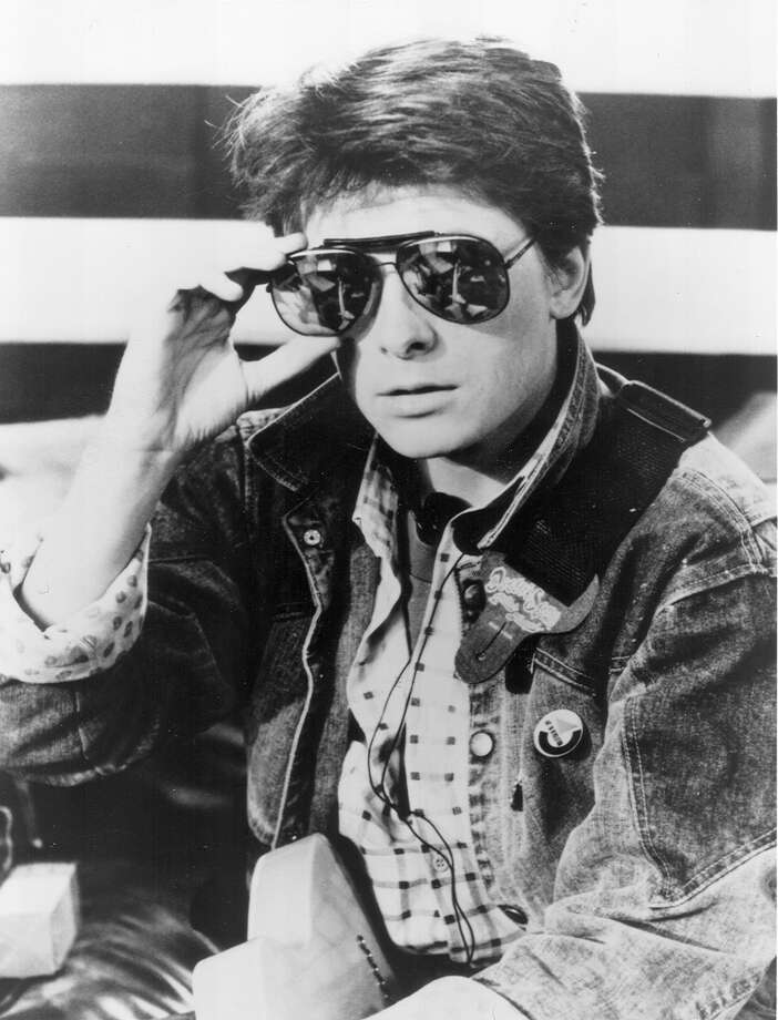 "Then: Michael J. Fox stars as Marty McFly in the 1985 film ""Back to the Future."" Photo: File Photo"