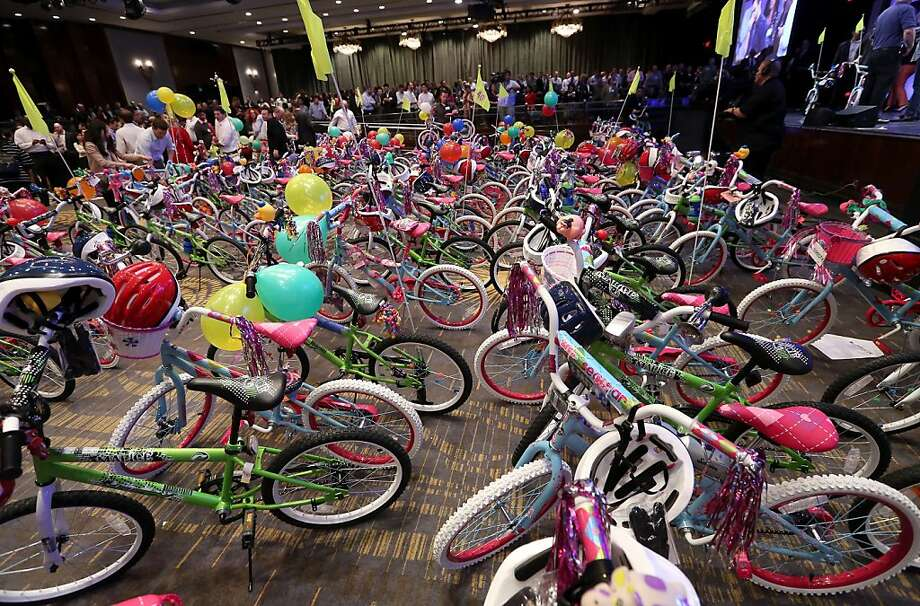 DIRECTV Helms the largest bicycle build on the west coast for The Boys and Girls Clubs of America at the Hyatt Regency Century Plaza on January 8, 2013 in Century City, California. Photo: Jesse Grant, Getty Images For DIRECTV