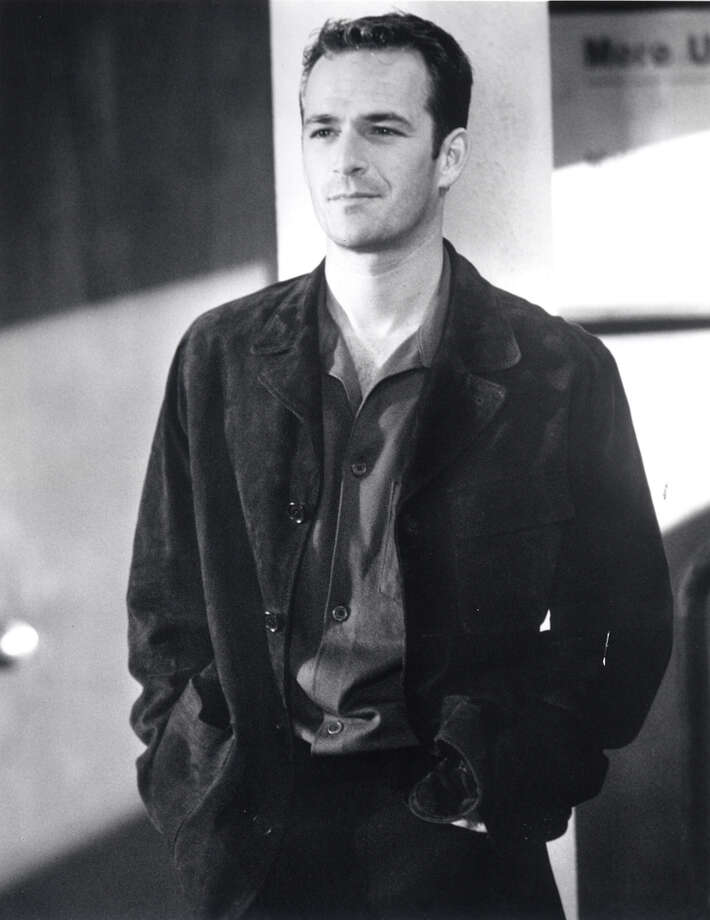 Then: Luke Perry as Dylan on the FOX television show 'Beverly Hills, 90210.'  Photo: MIKE JONES, FOX