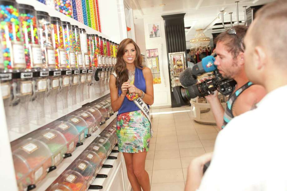 Miss Alabama USA 2012, Katherine Webb; during pre-taping for the Miss USA 2012 pageant at the Sugar Factory at Paris Las Vegas Hotel and Casino in Las Vegas, Nevada on Tuesday, May 22, 2012. Photo: Patrick Prather, Miss Universe Organization / PATRICK PRATHER