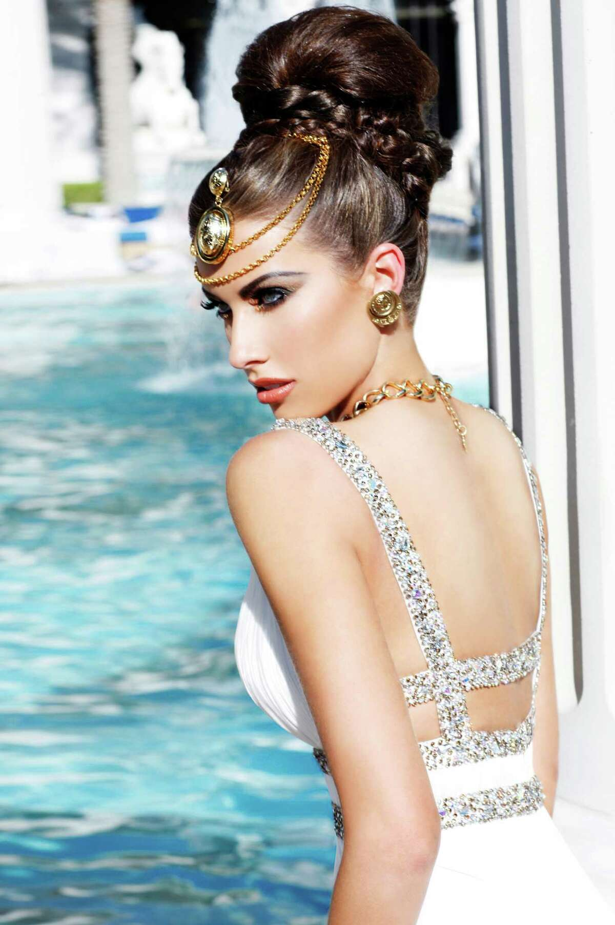 Miss Alabama USA 2012 Katherine Webb poses for fashion photographer Fadil Berisha in May 2012 at the