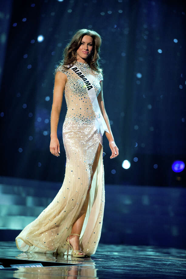 Walking the runway Miss Alabama USA 2012, Katherine Webb competing in her choice evening gown during the 2012 Miss USA Presentation Show on Wednesday, May 30 from the Planet Hollywood Resort and Casino Theatre for the Performing Arts in Las Vegas, Nevada. Photo: Greg Harbaugh, Miss Universe Organization, L.P. / Miss Universe Organization, L.P.