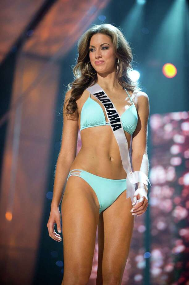 Miss Alabama USA 2012, Katherine Webb compete in swimwear by Kooey Australia and fashion footwear by Chinese Laundry during the 2012 Miss USA Presentation Show on Wednesday, May 30, 2012. Photo: Greg Harbaugh, Miss Universe Organization,  L.P. / Miss Universe Organization, L.P.