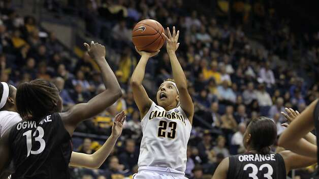 California guard Layshia Clarendon (23) shoots in the first half during an NCAA basketball game against Stanford Tuesday Jan 8, 2013, in Berkeley California. Photo: Lance Iversen, The Chronicle