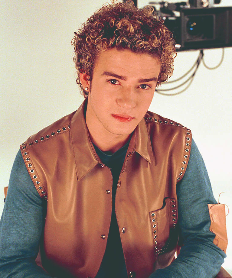 Then: Singer Justin Timberlake in 2001. Photo: AP