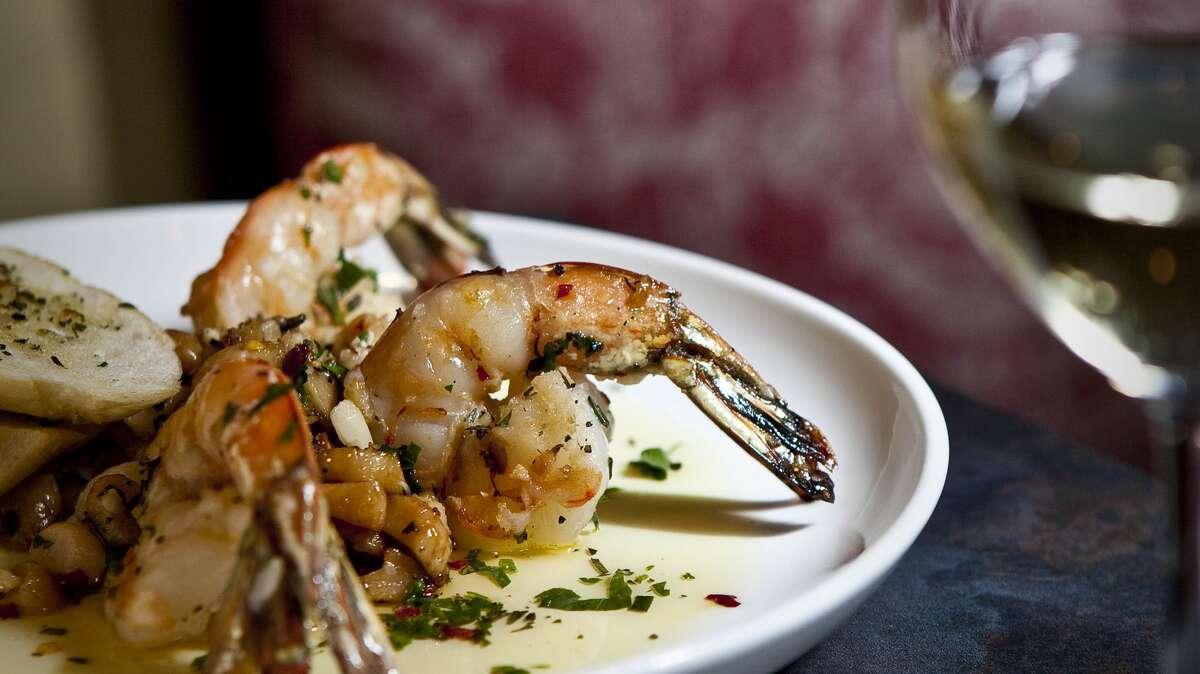 Shrimp with fresh and roasted garlic at Costa Brava