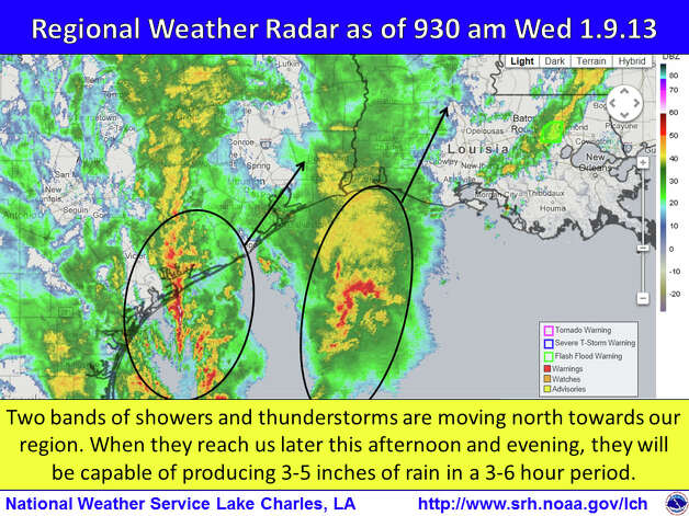Courtesy: National Weather Service Wednesday morning.