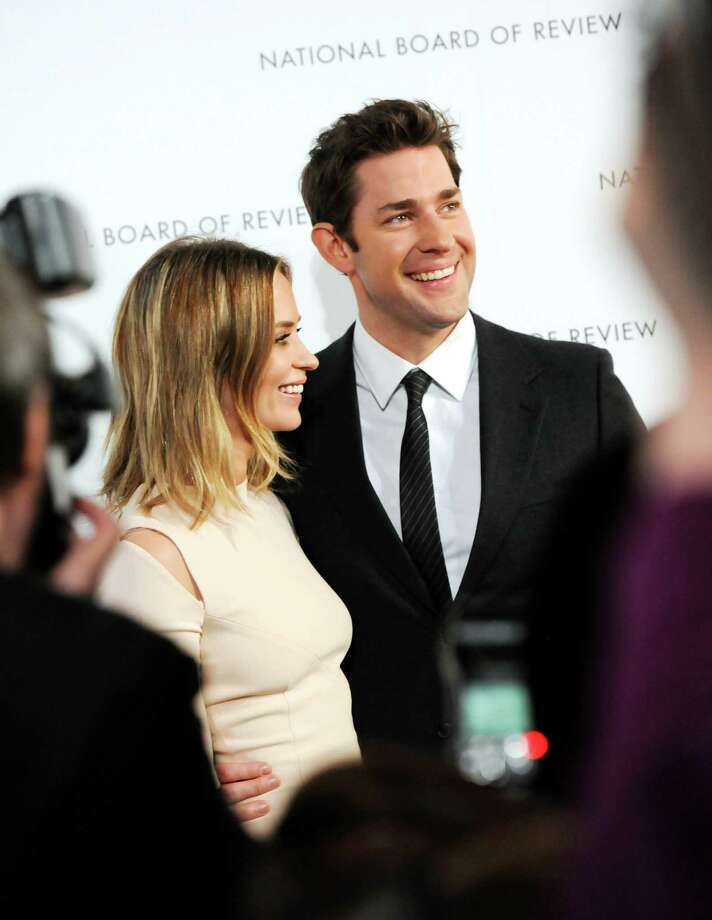Actress Emily Blunt and NBR Freedom of Expression winner, actor John Krasinski, attend the National Board of Review Awards gala at Cipriani 42nd St. on Tuesday Jan. 8, 2013 in New York. Photo: Evan Agostini, Evan Agostini/Invision/AP / Invision