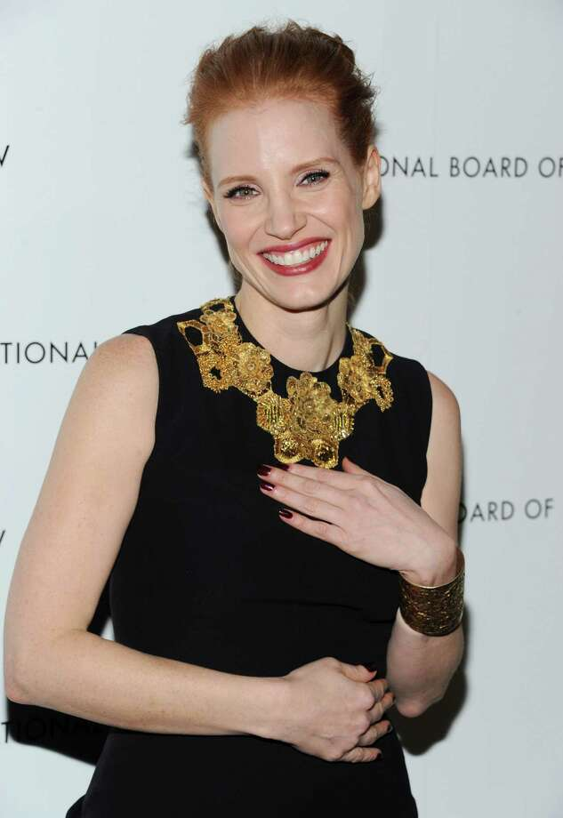 """Best Actress"" winner Jessica Chastain attends the National Board of Review Awards gala at Cipriani 42nd Street on Tuesday Jan. 8, 2013 in New York. Photo: Evan Agostini, Evan Agostini/Invision/AP / Invision"