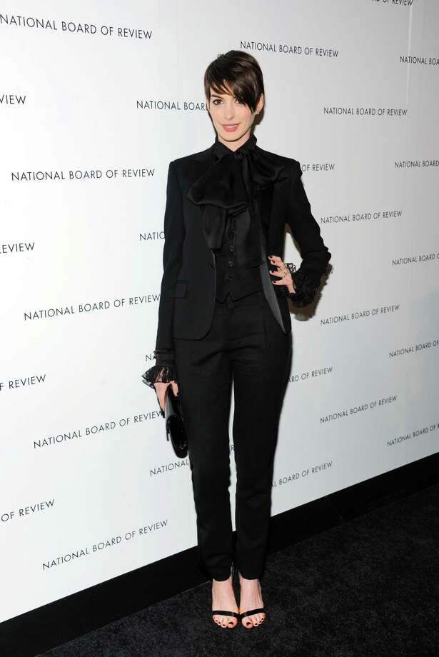 Actress Anne Hathaway attends the National Board of Review Awards gala at Cipriani 42nd Street on Tuesday Jan. 8, 2013 in New York. Photo: Evan Agostini, Evan Agostini/Invision/AP / Invision