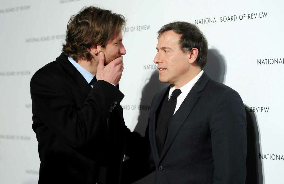Best Actor winner Bradley Cooper, left, and Best Adapted Screenplay winner, director David O. Russell, attend the National Board of Review Awards gala at Cipriani 42nd St. on Tuesday Jan. 8, 2013 in New York. Photo: Evan Agostini, Evan Agostini/Invision/AP / Invision