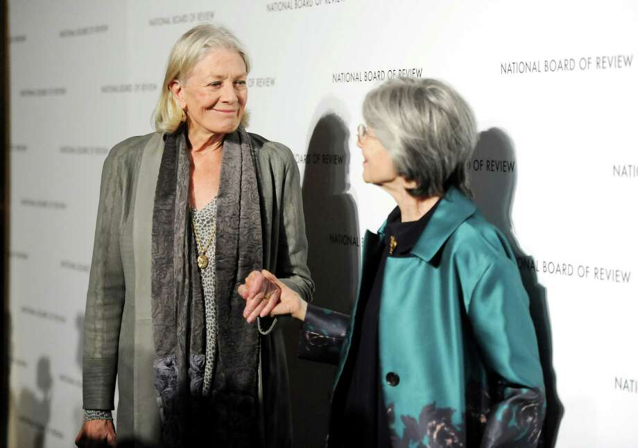 Actresses Vanessa Redgrave, left, and Emmanuelle Riva attend the National Board of Review Awards gala at Cipriani 42nd St. on Tuesday Jan. 8, 2013 in New York. Photo: Evan Agostini, Evan Agostini/Invision/AP / Invision