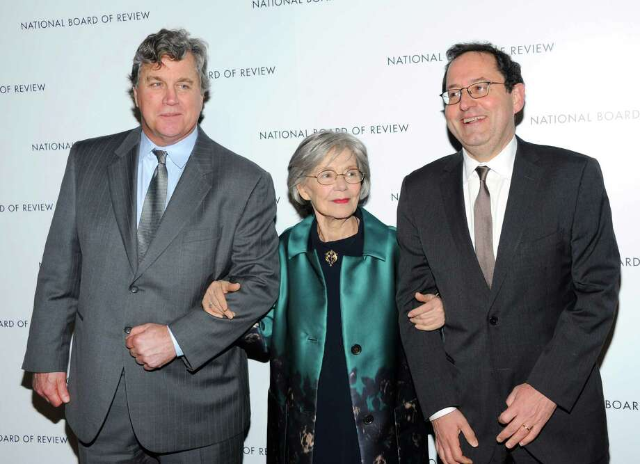 Sony Pictures Classics co-presidents Tom Bernard, left, and Michael Barker pose with French actress Emmanuelle Riva at the National Board of Review Awards gala at Cipriani 42nd St. on Tuesday Jan. 8, 2013 in New York. Photo: Evan Agostini, Evan Agostini/Invision/AP / Invision
