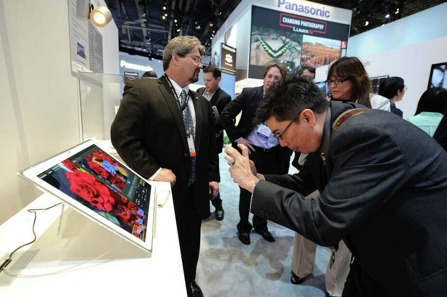 "The New 20"" 4K Tablet on display at the Panasonic booth at the 2013 International Consumer Electronics Show, on Tuesday. Photo: Powers Imagery, Associated Press / Invision"