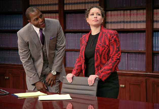 "Kevin Craig West and Shelly Thomas star in ""Race,"" at Capital Repertory Theatre Jan. 11 through Feb. 10, 2013, in Albany. (Joseph Schuyler)"