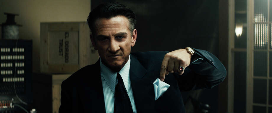 "A heavily made-up Sean Penn plays gangster Mickey Cohen in ""Gangster Squad."" Photo: Courtesy Of Warner Bros. Picture"