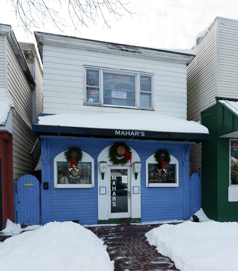 Exterior view of Mahar's at 1110 Madison Avenue in Albany, N.Y. Dec 31, 2012. (Skip Dickstein/Times Union)