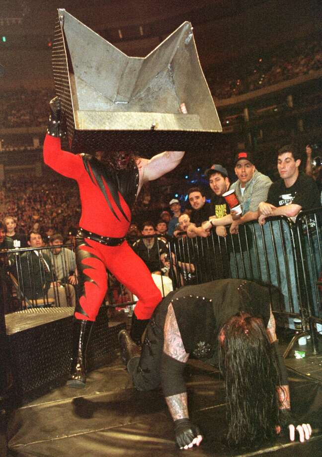 "Kane vs. the Undertaker was one of the most memorable feuds of WWE's ""attitude era.""  Photo: WINSLOW TOWNSON, AP / AP"