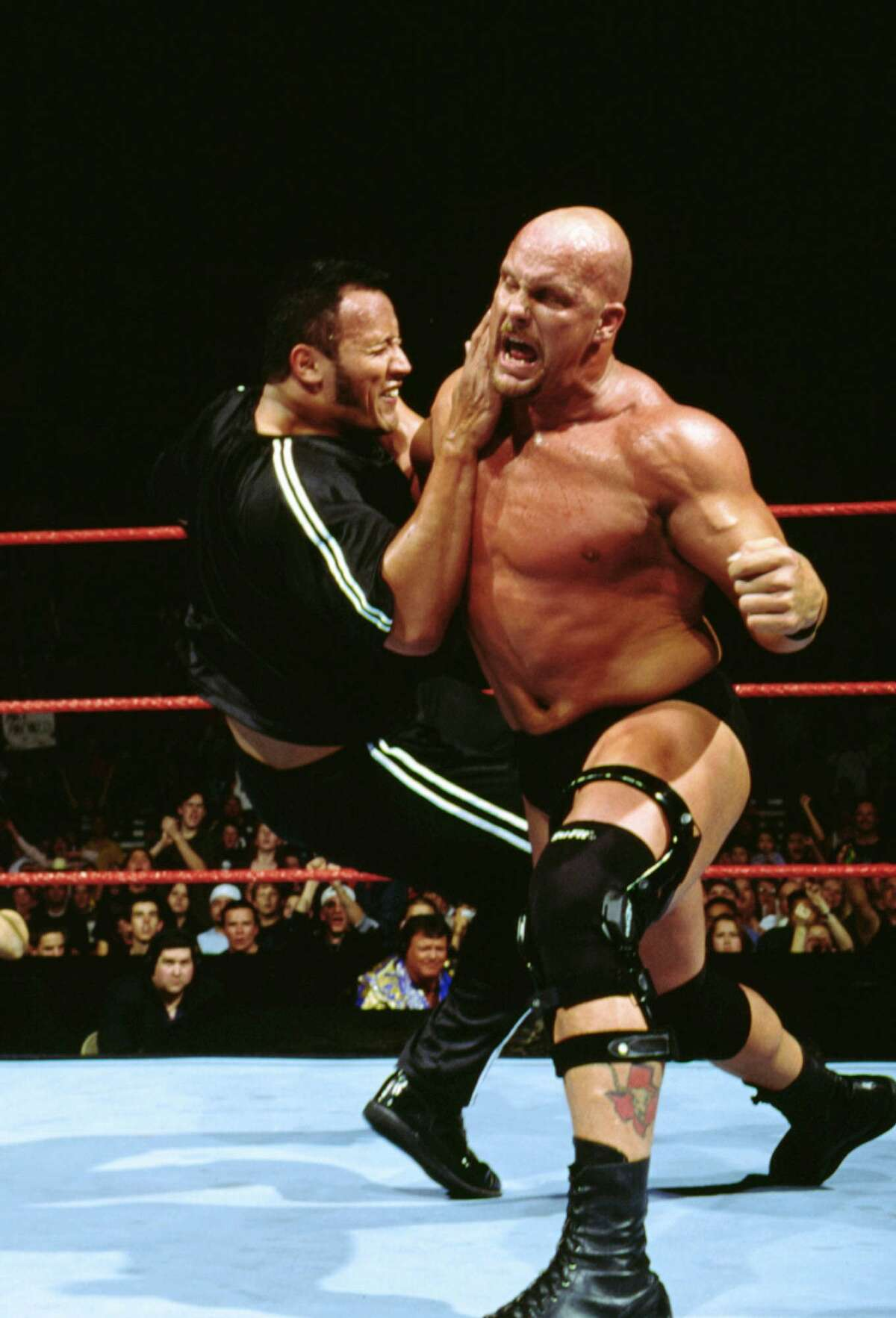 Stone Cold Steve Austin Steve James Anderson was born in Austin in 1951. Austin is a six-time WWF/WWE champion, also having won two intercontinental and four tag team championships in those same years making him one of only five WWF/WWE Triple Crown Winners. Biggest rival: The Rock Favorite finishing move: The Stone Cold Stunner (kick to the gut followed by grabbing the head and doing a drop bounce of the opponents chin off his shoulder).