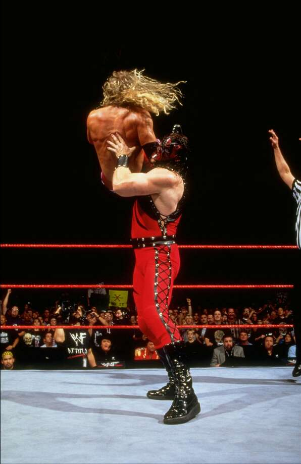 While considered sports entertainment, WWE superstars are highly trained athletes.  Photo: 1999 Titan Sports Inc., UPN