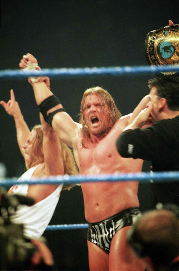 Stars like Triple H helped WWE Smackdown become the organization's second flagship show.  Photo: 1999 Titan Sports Inc., UPN